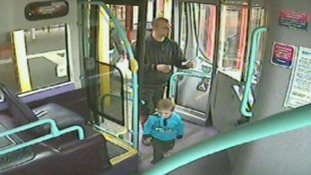 Daniel Rigby with Rio on the bus the day before he murdered the toddler