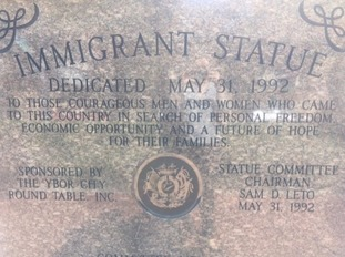 Ybor was populated by immigrants from Cuba, Puerto Rica, Mexico, Nicaragua, Spain, Italy, Romania and Germany.
