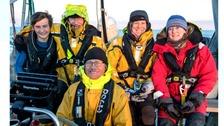 Benji Edwards with sailing team.