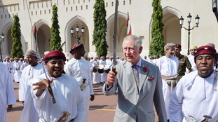 Prince Charles took part in a ceremonial sword dance