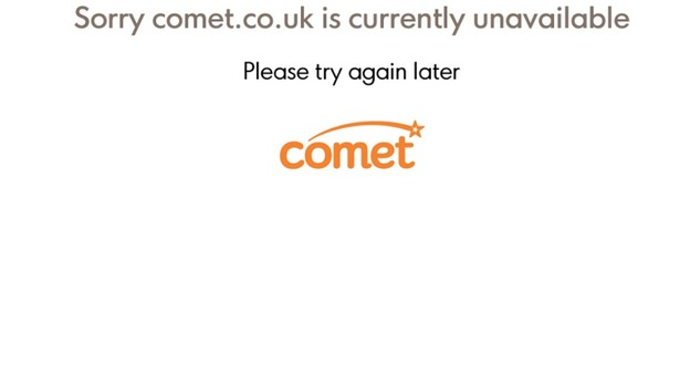 Comet website holding page