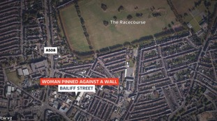 Location of alleged attack in Northampton