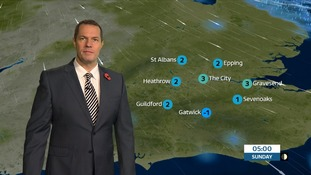 Cold, wind and showery especially in the east.