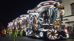 Crowds fill the streets for colourful Bridgwater Carnival