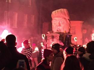 Trump effigy