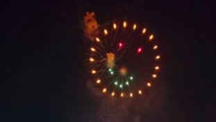 Smiley face firework