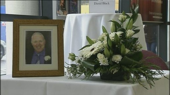 A book of condolence was opened in David Black's hometown of Cookstown on Friday