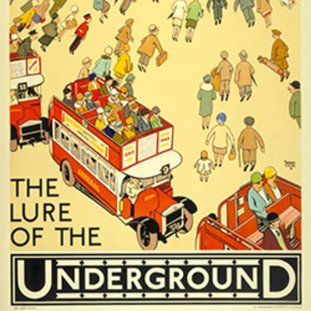 One of the colourful posters in the Underground network