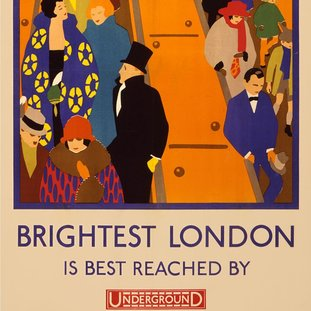 Posters commuters in the early 1900s would have seen in tube stations