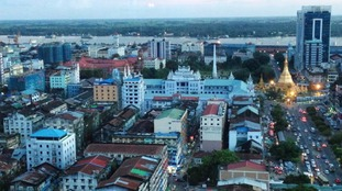 The man was found with head and chest injuries in the city of Rangoon