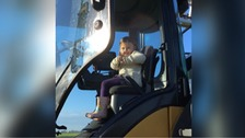 Mikayla loved being out on the farm in Cambridgeshire.