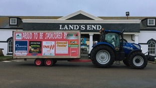 The tractor and trailer at Land's End.