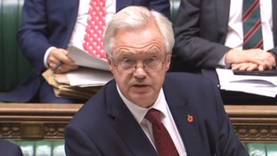 Brexit Secretary David Davis was grilled in the House of Commons.