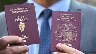 An Irish and a UK passport.