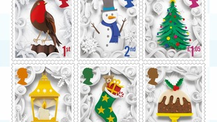 Royal Mail releases festive stamps by Manchester artist