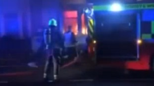 Swindon house fire: police praise passer-by who broke down door to help rescue injured