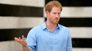 Prince Harry pictured in September.