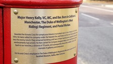 Honour: Major Henry Kelly has had a postbox dedicated to him