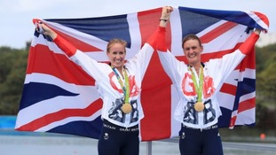 Stanning (right) and pairs partner Helen Glover