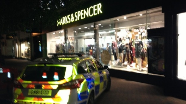 This the scene at a Marks and Spencer store in Tunbridge Wells where a man has been electrocuted.