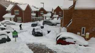 Snow in Consett, County Durham