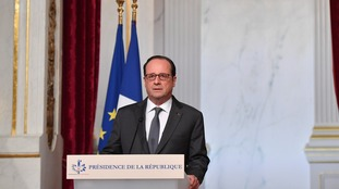 President Hollande's delivers a statement on Donald Trump's election victory.
