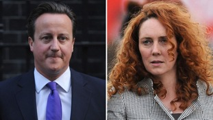 David Cameron and Rebekah Brooks.