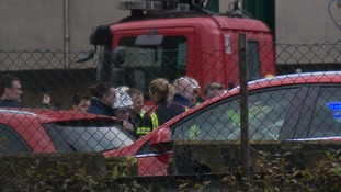 Emergency crews attended the site
