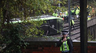Seven confirmed dead in Croydon tram crash.