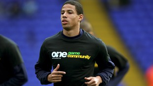 Birmingham City's Curtis Davies wears a One Game Community 'Kick it Out' anti-racism campaign t-shirt during warm-up