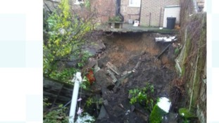 The sinkhole that has opened up in Ripon