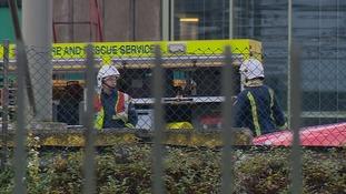 Fire crews at the Carlsberg site