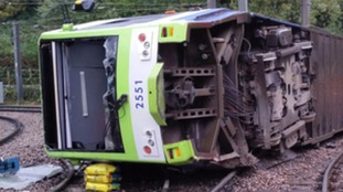 Fresh picture shows scale of damage to Croydon tram.