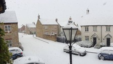 Snowy scenes in Sherborne this morning.