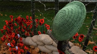 Breaston remembers the fallen with knitted poppy display