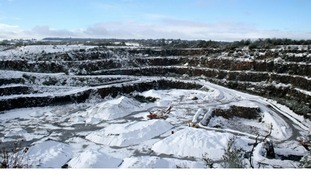 Halecombe Quarry, Leigh-on-Mendip this morning.