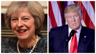Theresa May is set to hold talks with Donald Trump