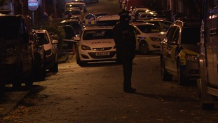 A number of police cars were at the scene