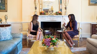 Melania Trump and Michelle Obama 'discussed raising children in the White House'
