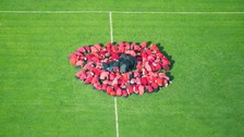 849 squadron at RNAS Culdrose flew over in their helicopter and took the photo