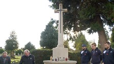 Luton Town footballers and staff paid their respects at the town's General Cemetary