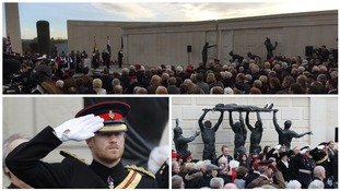 Prince Harry leads nation in remembrance at Armed Forces Memorial