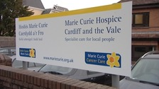 Marie Curie Hospice sign