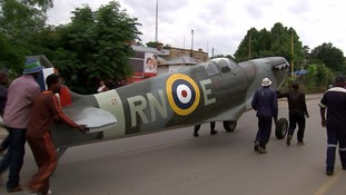 Spitfire replica given to people of Lesotho as WWII thank you gift