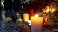The area opposite the Bataclan became a small shrine as the concert drew closer