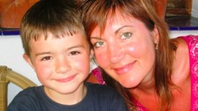 Joshua pictured with his mother, Joanne. He died in 2007 following an asthma attack.