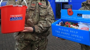 Thieves stole six poppy appeal collection tins from a Royal British Legion club in Bridgend.