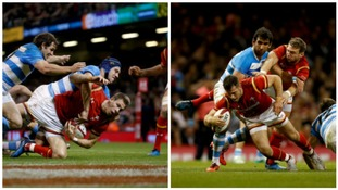 Tries from Liam Williams and Gareth Davies helped Wales to victory against Argentina