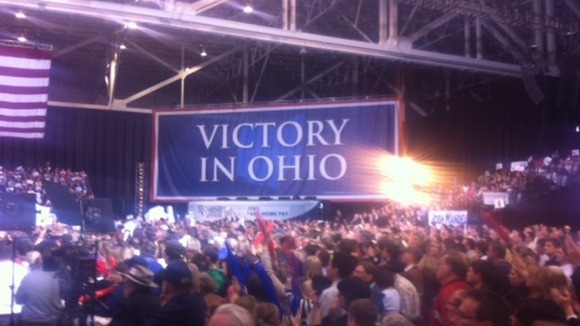 Romney's rally in Ohio.