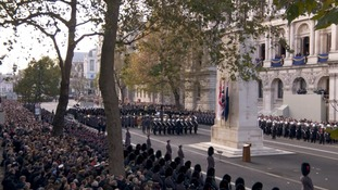 Britain's war dead remembered as Queen leads Remembrance Sunday tributes